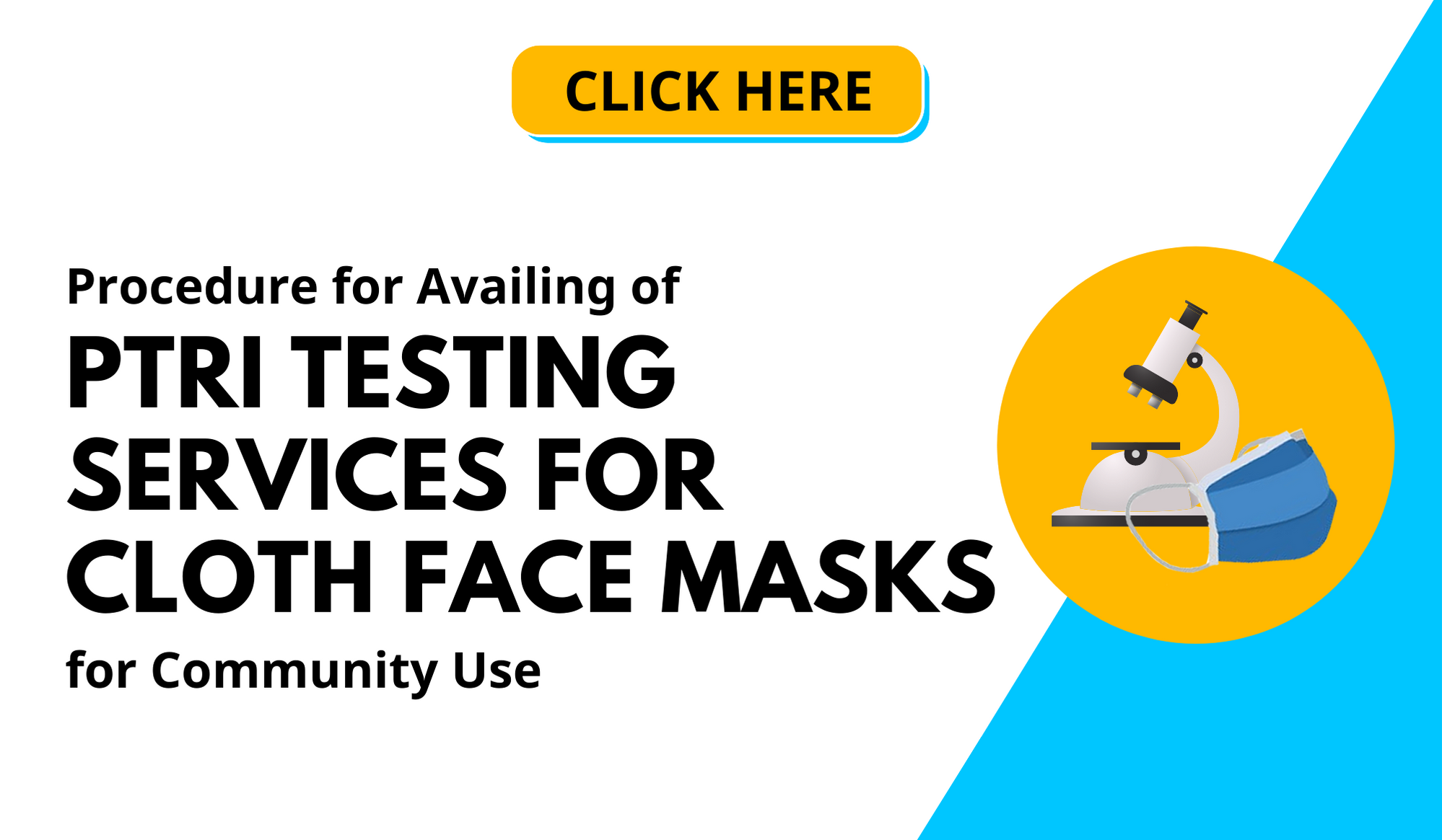 Procedure for Availing of PTRI Testing Services for Cloth Face Masks for Community Use