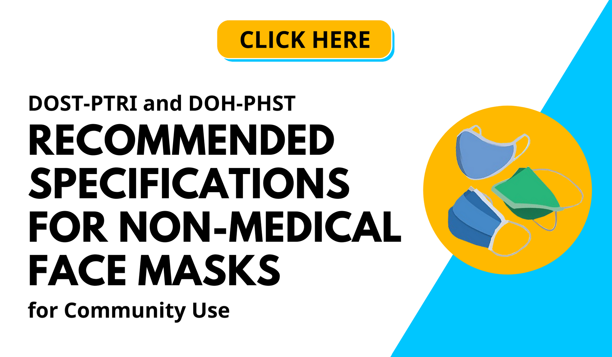 DOST PTRI and DOH Recommended Specifications for Non_Medical Face